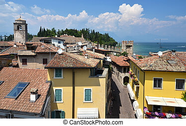 Sirmione town at the lake Garda, Italy