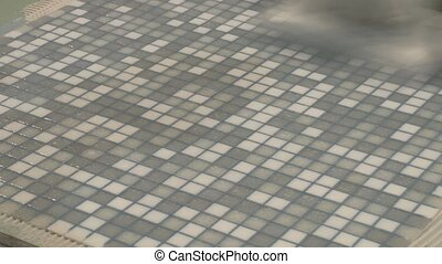 Laying mosaic tiles - Technology laying mosaic tiles