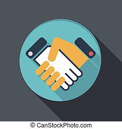 flat icon. handshake