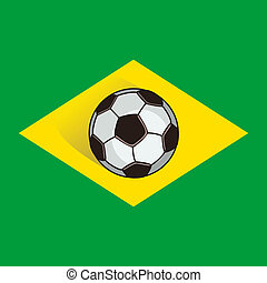 Brazil soccer background - vector illustration. eps 8