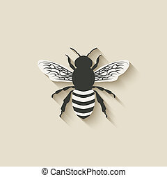 bee insect icons - vector illustration eps 10