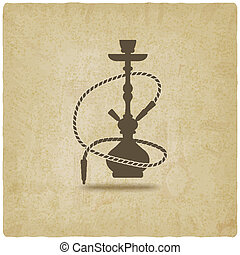 hookah old background - vector illustration. eps 10