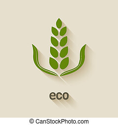 green eco icon - vector illustration. eps 10