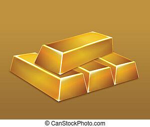 Gold bars. Vector art illustration