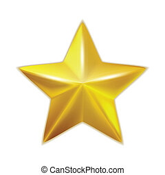 Gold star isolated. Vector