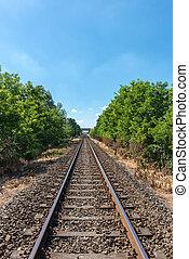 Railway tracks near Tromello (Italy) - Railway tracks near...
