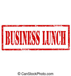 Business Lunch-stamp - Grunge rubber stamp with text...