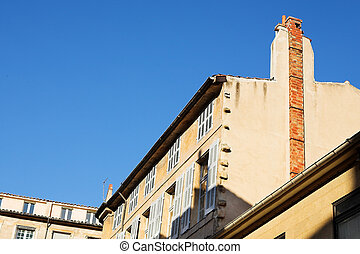 Buildings in Aix-en-provence, France.