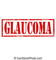 Glaucoma-stamp - Grunge rubber stamp with text...