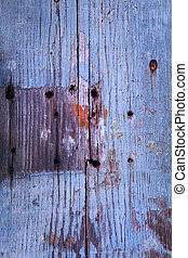 Old wooden plank texture - Old wooden door texture with nail...