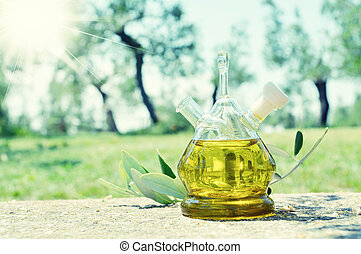 Olive oil. Sirmione, Italy
