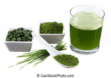 detox. young barley, chlorella supe - Young barley and...