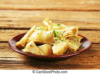 Marinated artichoke hearts - Artichoke hearts dressed in oil...