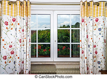 Renovated pvc windows in classic village house, Alsace