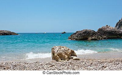 Marina Piccola on Capri Island, Italy - View of Marina...