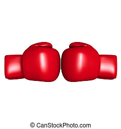 boxing glove - The objects made at 3d