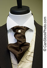 Smart dummy - Cravat and formal suit on tailors dummy