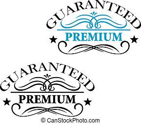 Guaranteed Premium calligraphic elements - Black and blue...