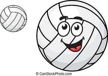 Cartoon volleyball ball - Two volleyballs, one with a happy...