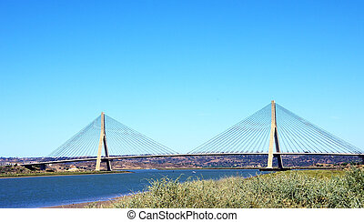 International Bridge on Guadiana River in Ayamonte