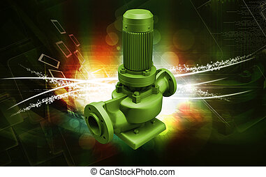water pump - digital illustration of a water pump in digital...