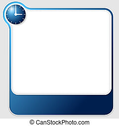 blue vector text boxes with clock
