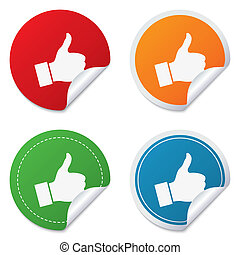Like sign icon Hand finger up symbol - Like sign icon Thumb...