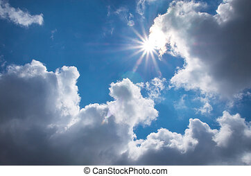 Deep blue sky Composition of nature