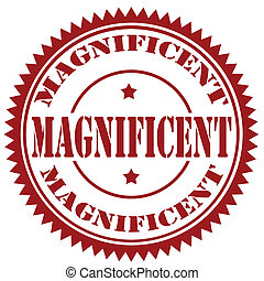 Magnificent-stamp - Rubber stamp with text...