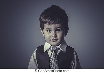 boy in suit and tie, Business concept