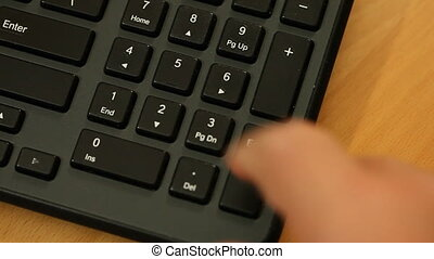 Pressing numbers buttons keyboard
