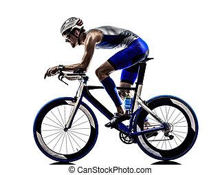 hombre, triatlón, hierro, hombre, Atleta, Ciclista,...