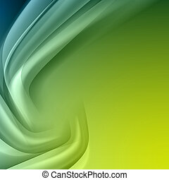 Green blue abstract background with light lines and shadows....