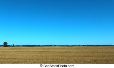 Empty field after harvest - View of an empty farming field...