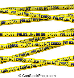 Police danger tape - Realistic yellow tape with Police line...