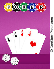 Poker - illustration of poker