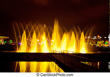 Batumi fountain show - Multimedia laser colorful musical...
