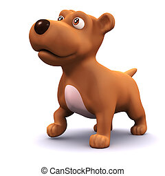 3d Cute puppy dog - 3d render of a cute puppy dog