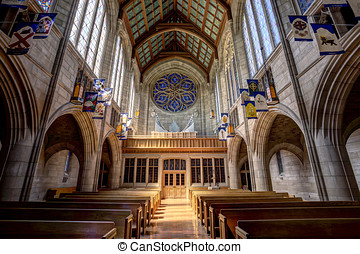 Inside St Johns Church. - The interior architecture of the...