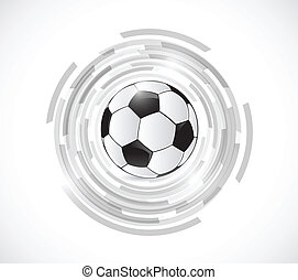 soccer ball over turning graphics. illustration