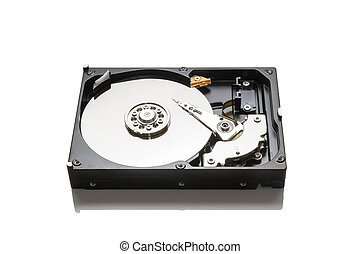 HDD - Hard disk drive HDD isolated on white background
