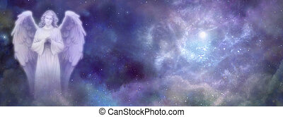 Heavenly Angel Website Banner - Deep space cloudy nebular...