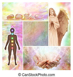 Holistic Healing Collage - Four different Holistic aspects...