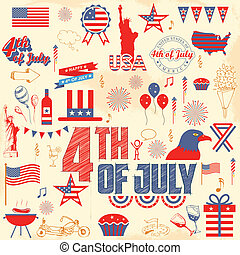 4th of July design element - illustration of design element...