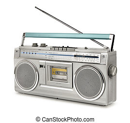 Eighties vintage radio cassette player - Vintage stereo...