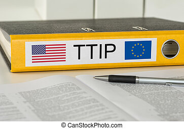 Folder with the label TTIP