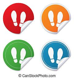 Imprint shoes sign icon Shoe print symbol - Imprint soles...
