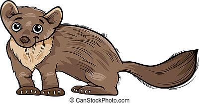 marten animal cartoon illustration