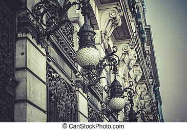 Bank, Image of the city of Madrid, its characteristic...