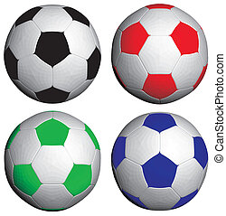 Football Soccer RGB and BW Ball Vector